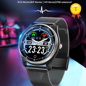 Image 2 - 2019 New hr bp monitoring fitness band PPG ECG smart watch with ecg electrocardiograph display heart rate monitor blood pressure