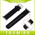 Correa de caucho de silicona correa de liberación rápida para iwatch apple watch 38mm 42mm wrist band pulsera con hebilla de acero inoxidable