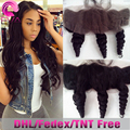 7A Brazilian Loose Wave Frontal With Baby Hair Free Middle 3 Part Ear To Ear Lace Frontal Closure 13x4 Virgin Human Hair Frontal