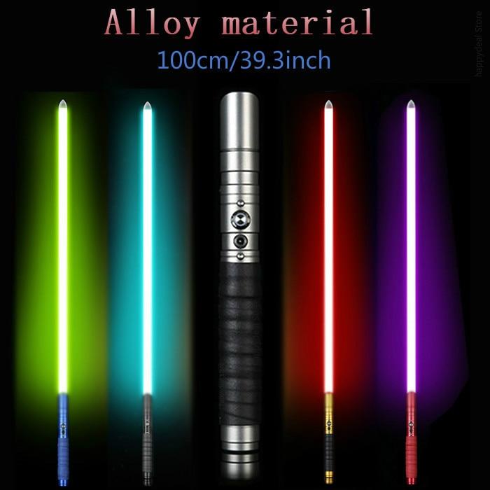 Miecz świetlny Jedi Sith ewangelii według łukasza miecz świetlny życie FX ciężkie pojedynki akumulator zmienia kolor dźwięk FOC zamknąć metalowy uchwyt miecz w Świecące zabawki od Zabawki i hobby na AliExpress - 11.11_Double 11Singles' Day 1