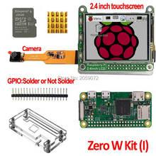 Raspberry Pi zera W Pi0 W pokładzie Raspberry Pi 2.4 cal LCD Pi0 zero futerał na aparat fotograficzny 8g karty SD 2.4 cal ekran dotykowy