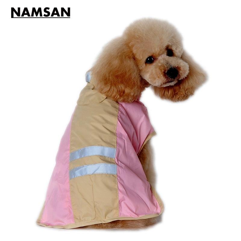 Namsan 8 Größe Hundebekleidung Weiches PU Regenmantel Licht