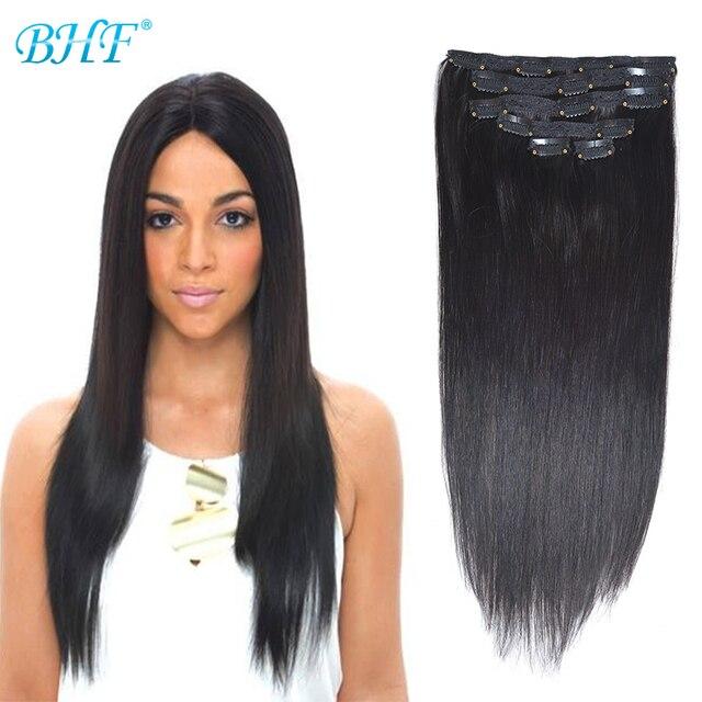 Clip en extensiones del pelo humano recto del pelo humano clip en las extensiones de clip de cabello natural extensiones de cabelo humano tic tac