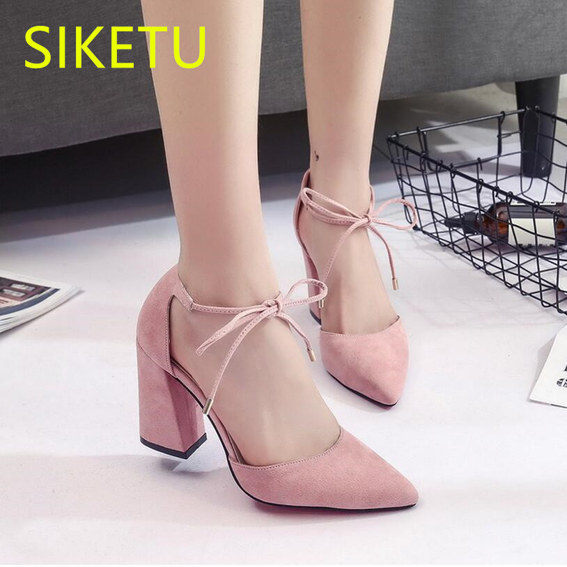 SIKETU 2017 Free shipping Spring and autumn Women shoes sex High heels shoes Wedding shoes Cross straps pumps   g131 siketu 2017 free shipping spring and autumn women shoes fashion high heels shoes wedding shoes sex was thin pumps g230