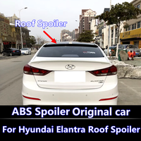 For Hyundai Elantra Roof Spoiler High Quality ABS Plastic Unpainted Primer Rear Trunk Spoiler For New Elantra 2016 2017 2018
