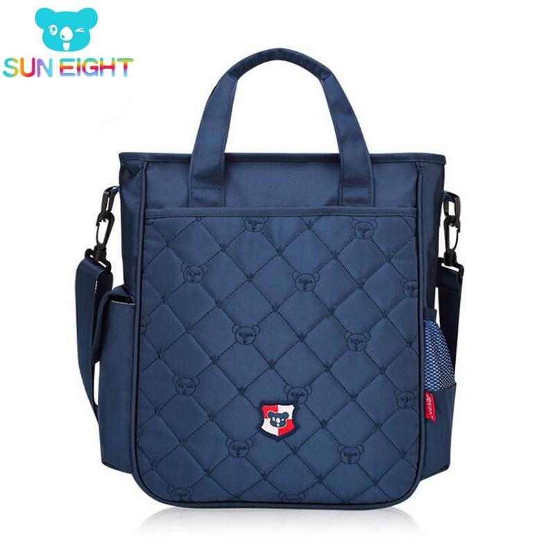 SUN EIGHT Zipper School Bags Unisex Study Handbag School Bag Kid Messenger Bags Children Travel Bolsa