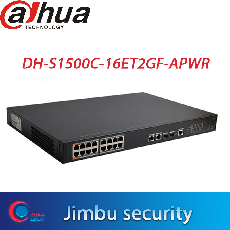 Original Dahua POE Switches 16 Ports 12v Output DH-S1500C-16ET2GF-APWR 1-16ports 100mbs +2uplink 1000mbs
