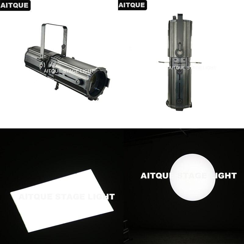 (4 lot/boîtier) projecteur Gobo Fresnel led scène spot lumière fresnel led 300w led zoom profil lumière 200W suivi spot dmx flight CASE