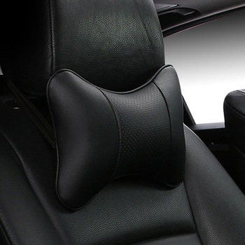 2019 brand new all artificial leather car neck pillows comfortable universal single pcs headrest fit for most cars fills fiber 1