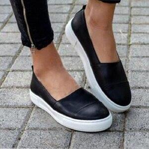 Image 4 - שטוח נעלי נשים מקרית סליפ ופרס Mocassin Femme פלטפורמת נעלי גבירותיי Wedage נעלי לנשים מטפסי Zapatos Mujer 2020