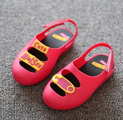 Mini sed Jelly Sandals For Baby Girls and Boys Children Summer Cute Smile Cartoon Beach Shoes 2018 Infant Sandals