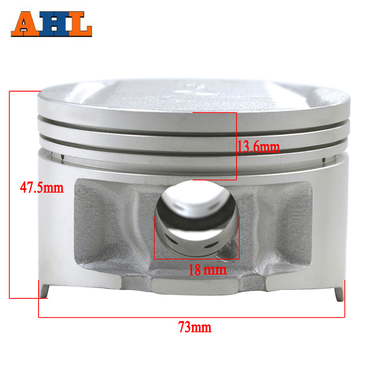 AHL STD ~+100 Cylinder Bore Size 73mm~74mm Motorcycle Piston & Piston Ring Kit For Yamaha TTR250 TT250R TTR <font><b>250</b></font> 1999-2006 image
