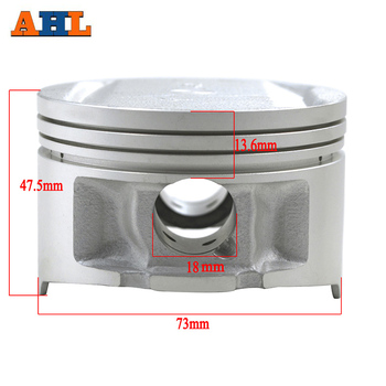 цена на AHL STD ~+100 Cylinder Bore Size 73mm~74mm Motorcycle Piston & Piston Ring Kit For Yamaha TTR250 TT250R TTR 250 1999-2006