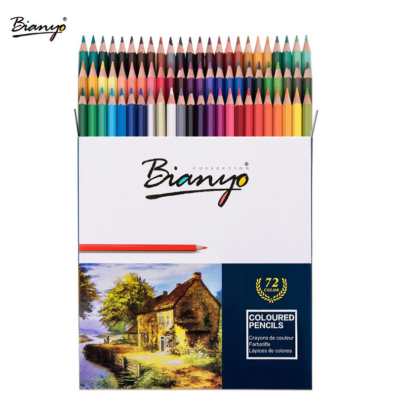 72 Colors High Quality Wood Colored Pencils Set Lapis De Cor Artist Painting Oil Color Pencil For School Supplies Drawing Sketch deli 2018 nature wood colored pencils set 12 18 24 36 48 colors for drawing painting sketch lapis de cor school artist supplie
