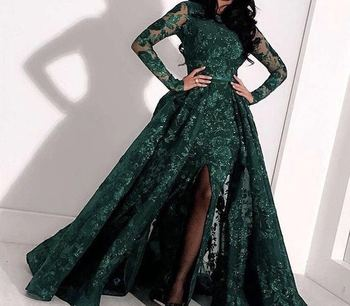 stock  zpp001-2#  5 yards luxury  3d  green color  sequin embroidery tull mesh african  lace for sawing bridal wedding dress