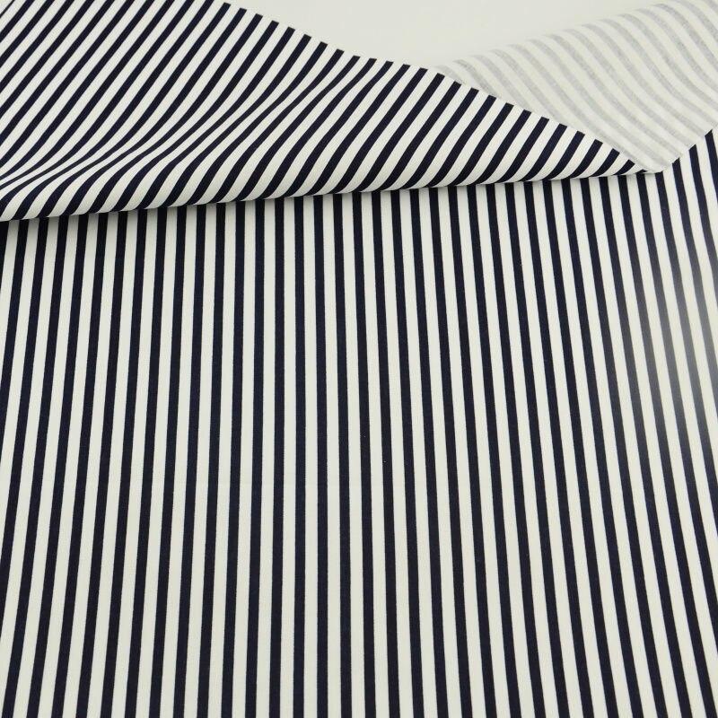 Blanco y Negro Rayas Estilo Trimestre Grasa 100% Tela de Algodón Textiles Para E