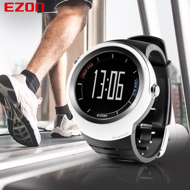 Outdoor Bluetooth Smart Sports Watch Men Ezon Waterproof Multifunctional Sport Alarm Digital WristWatches For Man Women Clock ezon outdoor sports for smart gps watches running male multifunctional 5atm waterproof electronic watch g1 black