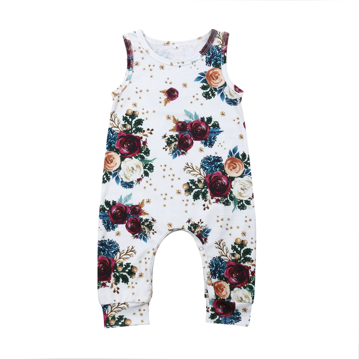 Newborn Infant Baby Girl Clothes Sleeveless   Romper   Jumpsuit Summer Outfit