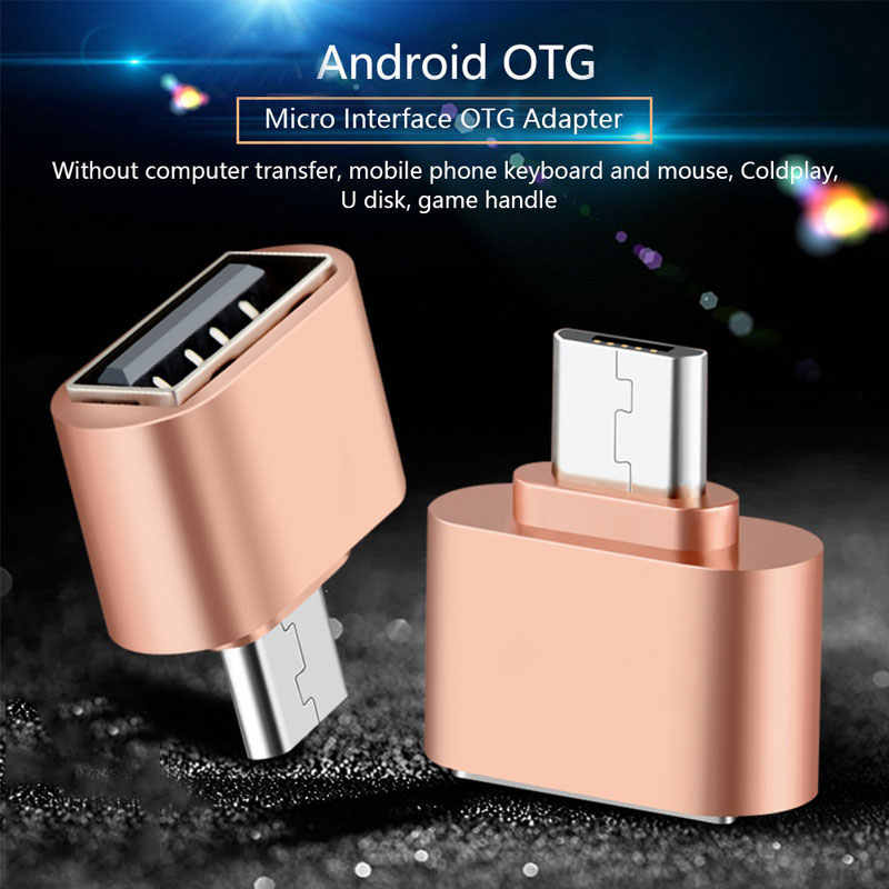Micro usb macho para usb 2.0 micro otg adaptador fêmea conversor para samsung xiaomi lg huawei telefones android tablet flash drives