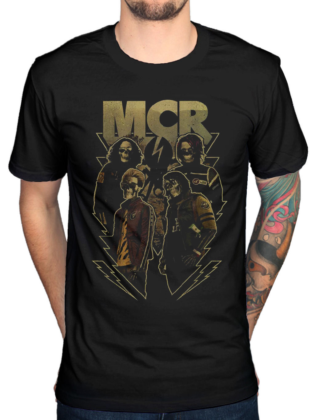 Official My Chemical Romance Appetite for Danger T-Shirt Gerard Way Merchandise New Fashion Men T Shirt 2018 Fashion
