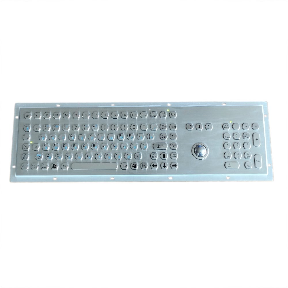 107 keys vandalproof stainless steel hexagon button IP65 keyboard numeric keypad function keys integrated 25mm 38mm