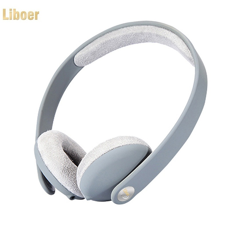 Liboer Headband Headphones High Quality with Microphone Stereo Headset On-Ear Headphones with L Bending Cable for Mobile Phone