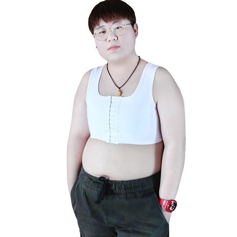 Tomboy Mesh Chest Binder Trans Ultra-flat Breathable Short   Corset   Les Plus Size Vest Tank Tops Cosplay Sports Underwear Lesbian