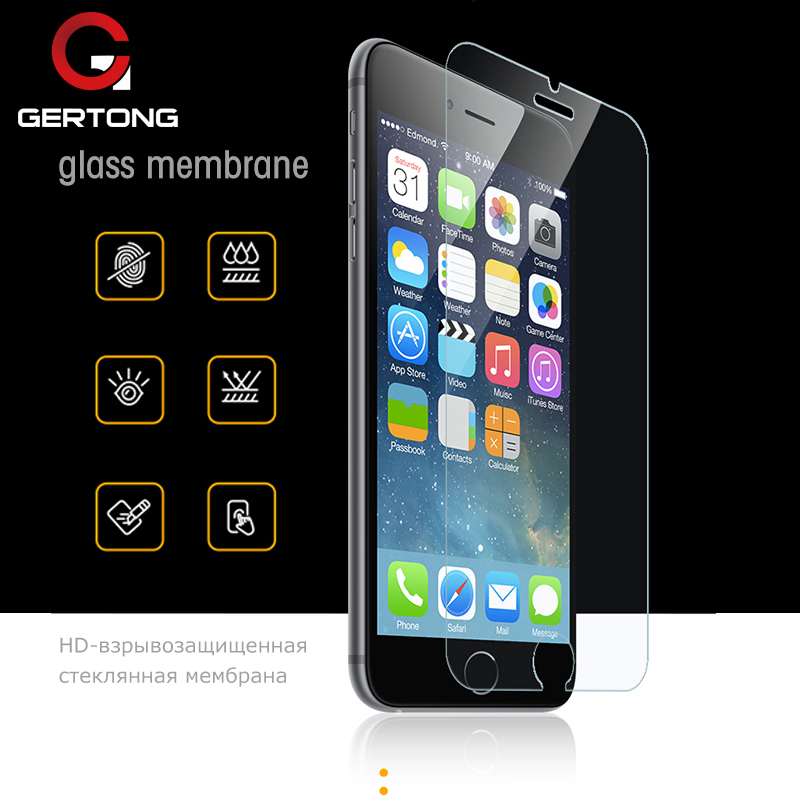 GerTong 2.5D 9H Screen Protector Tempered Glass For iPhone 6 6S 5S 7 8 SE 4S 5 5C Toughened Glas For iPhone 7 6 6S 8 Plus Flim benks okr pro tempered glass screen protector for iphone 6 6s