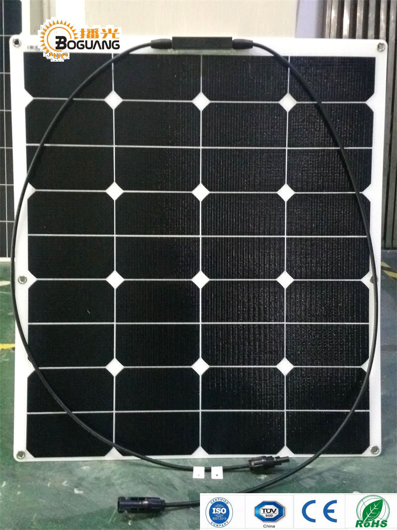 Boguang 60W ETFE film flexible solar panel 12V solar cell yacht boat RV module for car