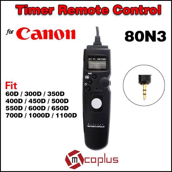 80N3 C1 ЖК-Цифровой Камеры Таймер Пульт Дистанционного Управления Спуска затвора для Canon EOS 60D 550D 600D 650D 700D 1100D 450D 500D 350D 300D