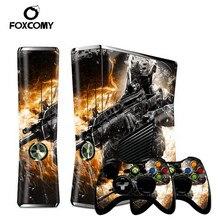 לוחם ג וקר גבר מותאם אישית ויניל קונסולת כיסוי עבור Microsoft Xbox 360 SLIM עור מדבקות בקר מגן עבור XBOX360 S