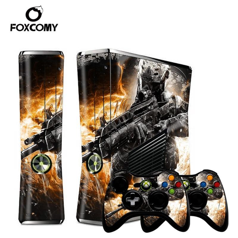 Warrior Joker Custom Man Vinyl Console Cover For Microsoft Xbox 360 SLIM Skin Stickers Controller Protective For XBOX360 S