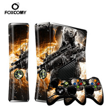 Warrior Joker Custom Man Vinyl Console Cover For Microsoft Xbox 360 SLIM Skin Stickers Controller Protective For XBOX360 S