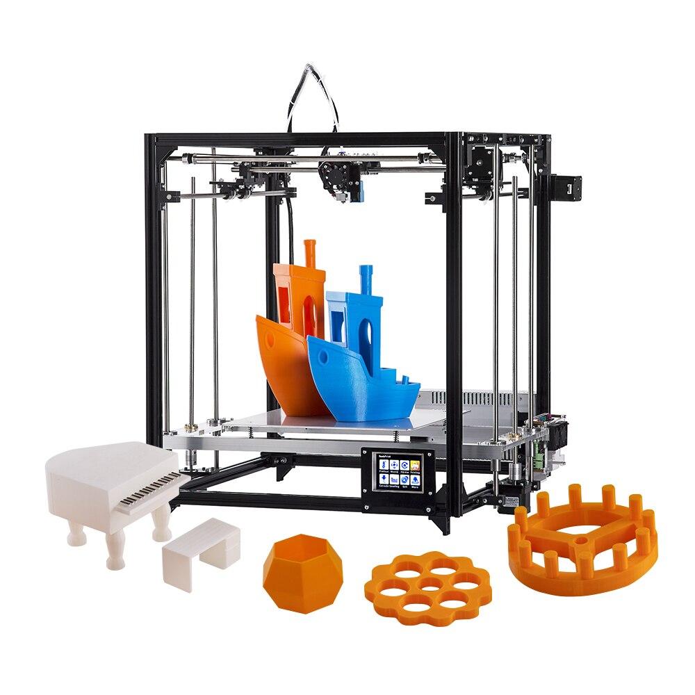 Flsun Cube F1 3D Imprimante Bricolage Kit de Mise À Niveau Automatique 360 W Grand Alimentation Impression Taille 26*260 cm Cadre En Aluminium Chauffée Lit Double Fans