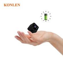 KONLEN كاميرا واي فاي صغيرة الحجم IP بطارية لاسلكية 1080P HD P2P فيديو CCTV مربية الجسم كاميرا SD أمن الوطن مراقبة الرؤية العالمية