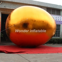 Most popular festival golden giant inflatable easter egg for outdoor event decoration