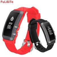 Bluetooth חכם בנד ספורט קצב לב צג לחץ דם אוטומטי צעד חכם צמיד שעון עצר הודעה לדחוף כושר שעונים