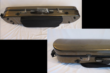 Strong Carbon fiber coded lock 4/4 violin case coffee color with Spectrum bag