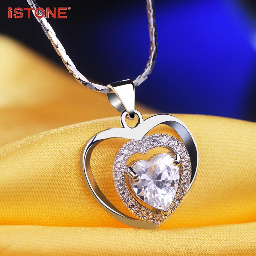 iSTONE Բնական ադամանդե կախազարդ 925 - Նուրբ զարդեր - Լուսանկար 5