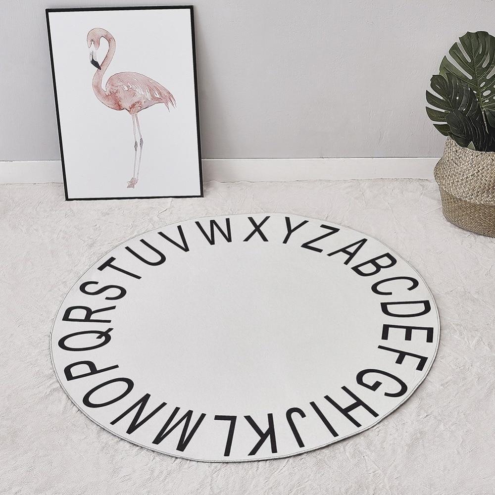 Детская скандинавский 26 алфавитов круглый вигвама коврик Детская комната мягкие стеганые Playmat для четырех/пять полюсов вигвама аксессуары