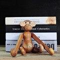 Brinquedo Fantoche Macaco Projeto Original De Madeira de madeira de Teca de alta Qualidade