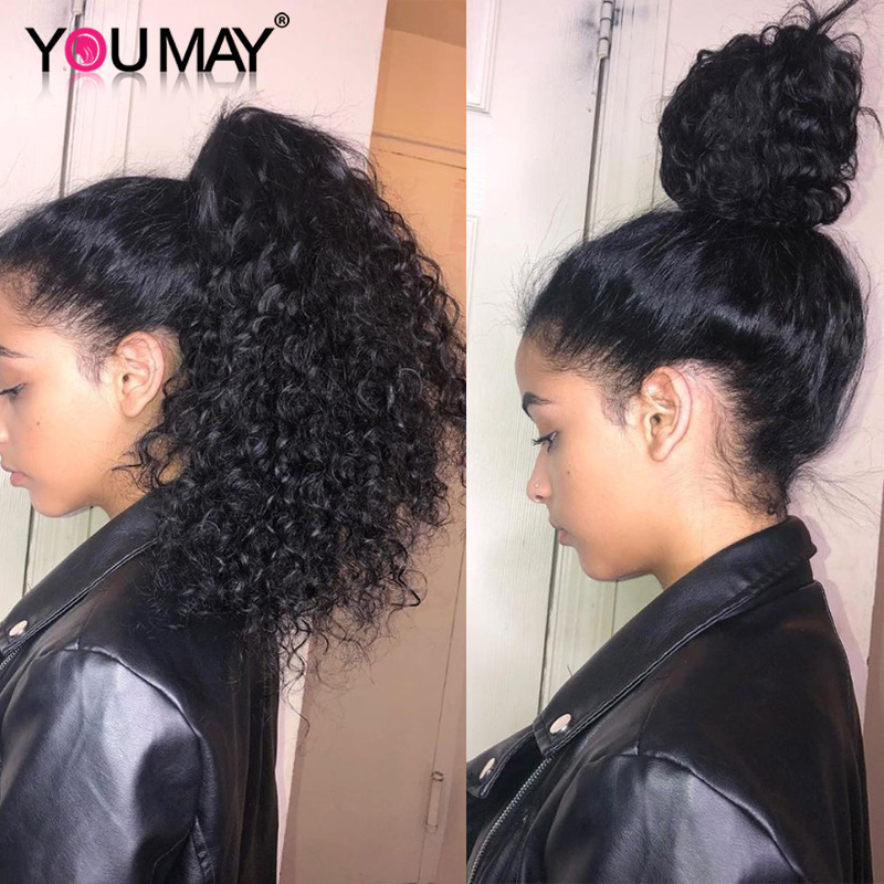 Full Lace Human Hair Wigs Pre Plucked With Baby Hair Glueless Brazilian Curly Transparent Full Lace Wig For Women You May Remy