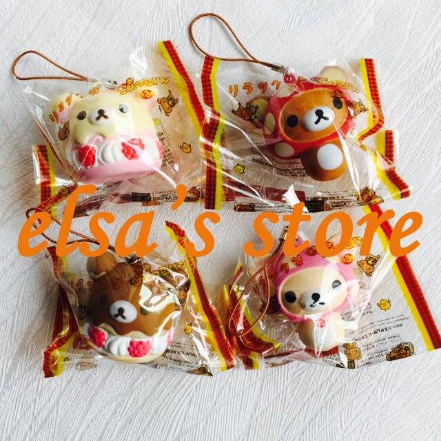imágenes para Lot kawaii rare blando squishies 20 unids mixta rilakkuma blandos juguete móvil colgante PU tokio japón Envío Libre