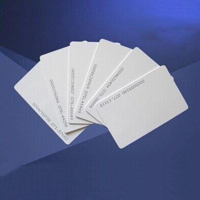 1000 pcs/lot 125 Khz EM4100 TK4100 RFID carte d'identité intelligente vierge avec carte numéro d'identification pour imprimante à jet d'encre pour système de contrôle d'accès