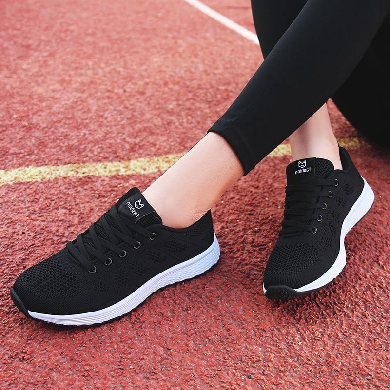 US $11.53 45% OFF|Tenis Mujer 2019 nowy Super lekki elastyczne kobiety Tenis buty Zapatos Mujer oddychające oczek Sneakers sportowe buty Chaussures