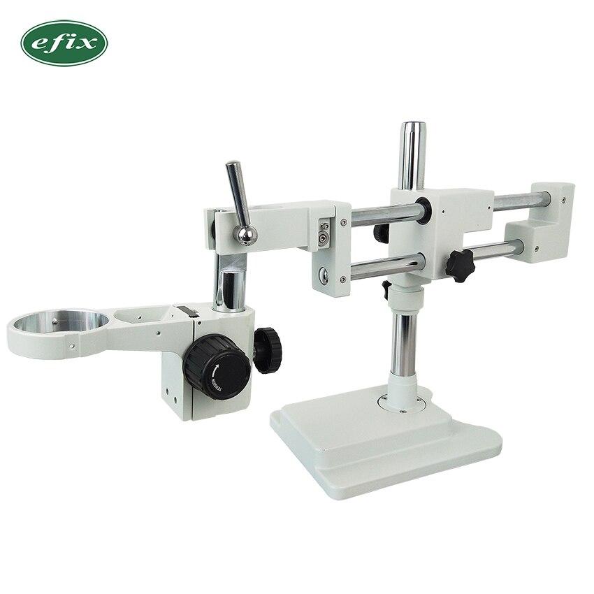 Ефикс прочная двойная рукоятка для выставочного стенда для Тринокулярный бинокулярный стерео микроскоп с A1 головка микроскопа держать кол
