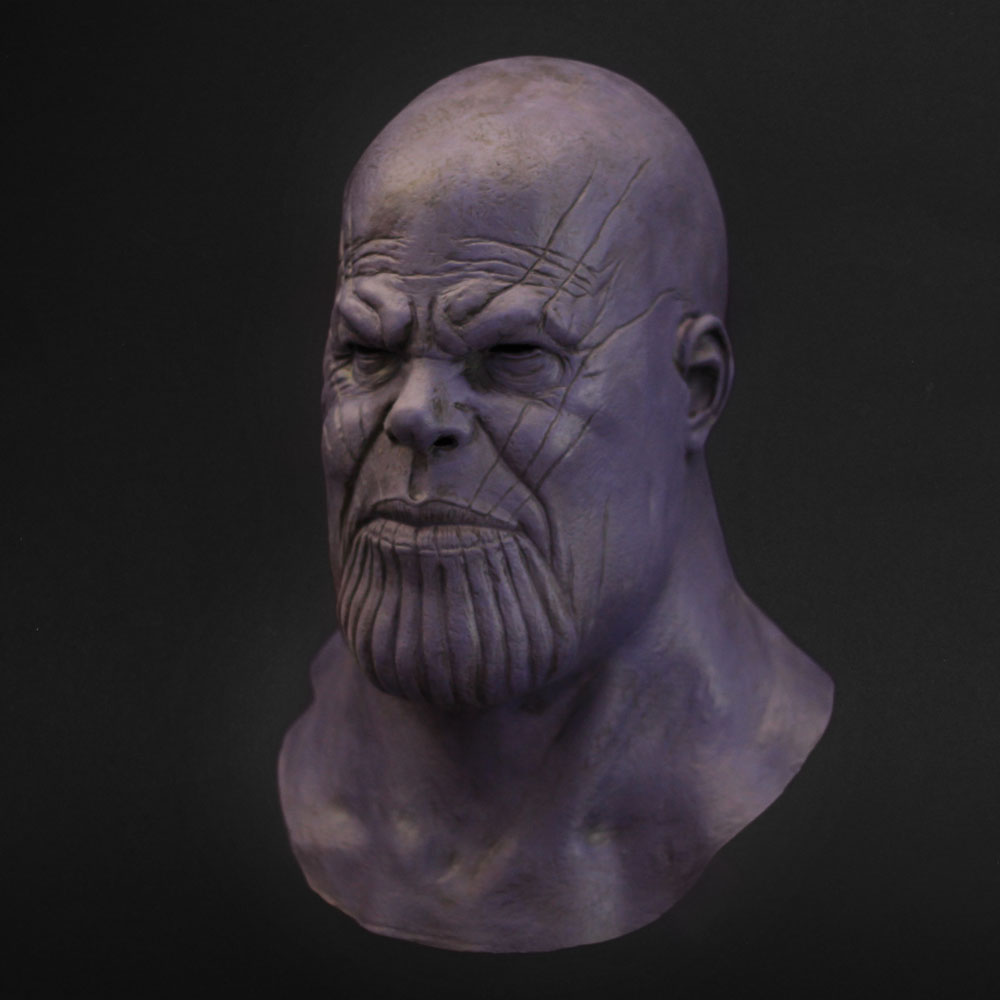 Thanos Mask Cosplay Avengers Endgame Thanos Costume Accessory Latex Masks Full Face Helmet Halloween Carnival Party Props6