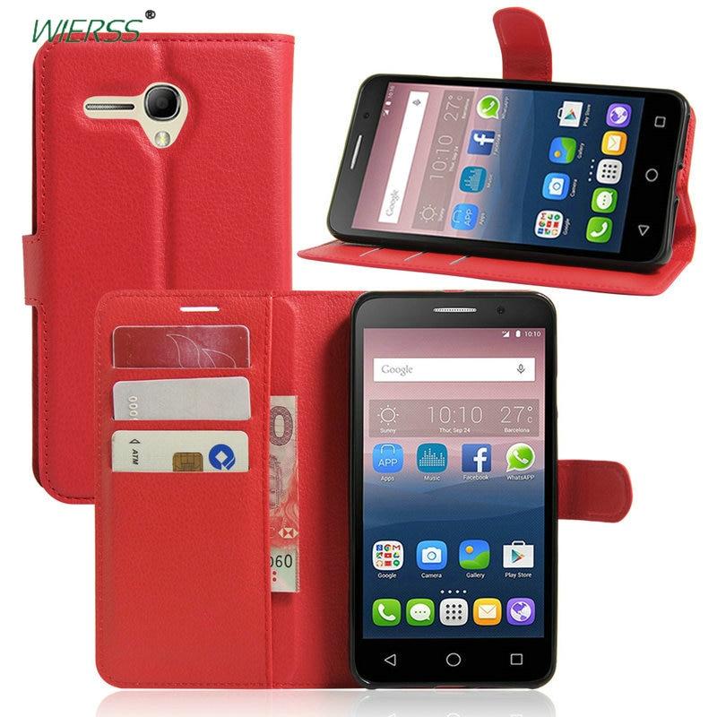 Portefeuille Flip Étui En Cuir Pour Alcatel One Touch Pop 3 4 5.0 5 5.5 5015D 5025D Pour Alcatel U5 HD u3 3g 4g A3 7 Couverture de Téléphone cas