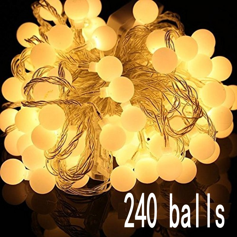 30M led string lights with 240 led ball AC 220V holiday decoration lamp Festival Christmas lights outdoor lighting цена
