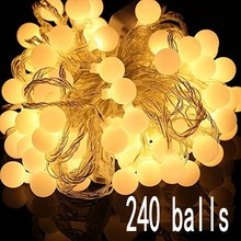 30M led string lights with 240 led ball AC 220V holiday decoration lamp Festival Christmas lights